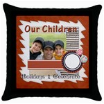 our children - Throw Pillow Case (Black)