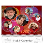 Bubbles 2017 (any Year) Calendar - Wall Calendar 11  x 8.5  (12-Months)