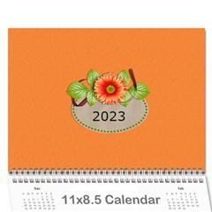 Calendar  Orange And Green Twist By Jennyl   Wall Calendar 11  X 8 5  (12 Months)   Hu5ljb0trvug   Www Artscow Com Cover