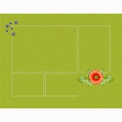 Calendar  Orange And Green Twist By Jennyl   Wall Calendar 11  X 8 5  (12 Months)   Hu5ljb0trvug   Www Artscow Com Month