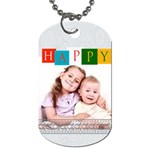 happy  - Dog Tag (One Side)