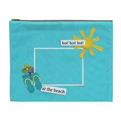 Cosmetic Bag (xl)  At The Beach By Jennyl   Cosmetic Bag (xl)   Okqczd9es1x6   Www Artscow Com Front