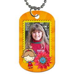 Girl 2 Dog Tag (2 Sides) By Mikki   Dog Tag (two Sides)   Ze7uaiyp7pp7   Www Artscow Com Front