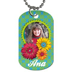Girl 2 Dog Tag (2 Sides) By Mikki   Dog Tag (two Sides)   Ze7uaiyp7pp7   Www Artscow Com Back