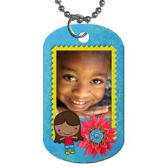 Girl 3 Dog Tag (2 Sides) By Mikki   Dog Tag (two Sides)   Xktuyuk0yxgv   Www Artscow Com Front