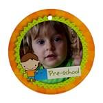 Preschool/Boy- round ornament (2 sides) - Round Ornament (Two Sides)