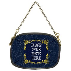 Gold And Blue Chain Purse Two Sided By Chere s Creations   Chain Purse (two Sides)   76nu05930cmx   Www Artscow Com Front