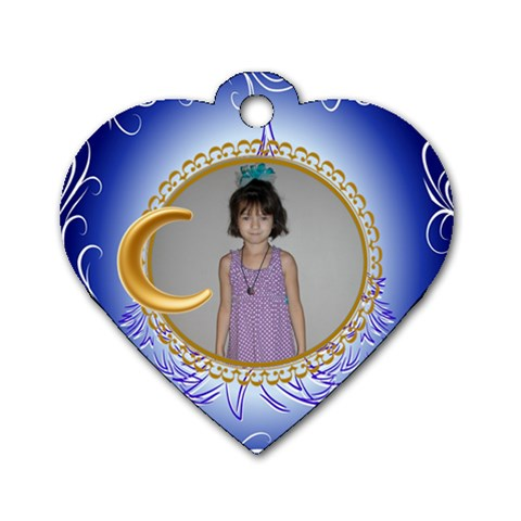 Christmas Heart By Jolene   Dog Tag Heart (one Side)   Wsc4as91i04y   Www Artscow Com Front