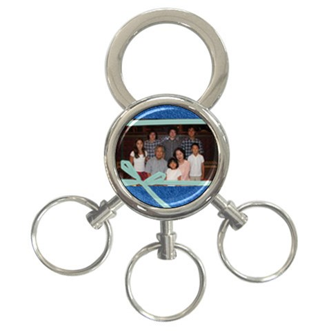 Denim Family Keychain By Paula Yagisawa   3 Ring Key Chain   4k1xt20z01h0   Www Artscow Com Front