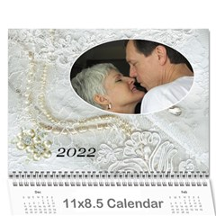 Our Wedding Or Anniversary 2018 (any Year) Calendar By Deborah   Wall Calendar 11  X 8 5  (12 Months)   Fbyf19qko64u   Www Artscow Com Cover
