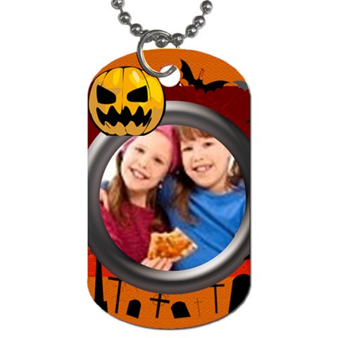 Halloween By Wood Johnson   Dog Tag (one Side)   T28g5joe7cjf   Www Artscow Com Front
