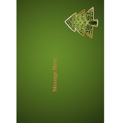 Green Merry Christmas 5x7 Card By Deborah   Greeting Card 5  X 7    9g924t3tgp3e   Www Artscow Com Back Inside