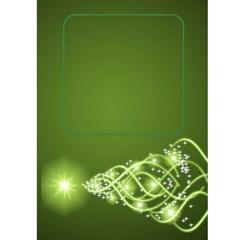Green Christmas Wishes 5x7 Card By Deborah   Greeting Card 5  X 7    Trsj6bqbwgmk   Www Artscow Com Front Inside