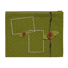 Cosmetic Bag (xl)  Green & Dots By Jennyl   Cosmetic Bag (xl)   Szdnx00cu5xv   Www Artscow Com Back