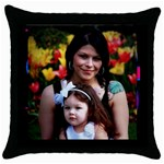 pillocase - Throw Pillow Case (Black)