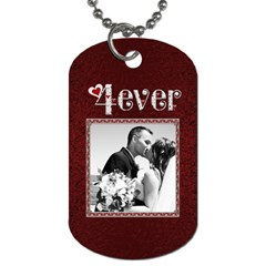 I Love You 4ever 2 Sided Dog Tag By Lil    Dog Tag (two Sides)   Gykn4ktwdiag   Www Artscow Com Back