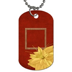 An Autumn Story 2 Sided Dog Tag 1 By Lisa Minor   Dog Tag (two Sides)   Clpy97tdkkzl   Www Artscow Com Front