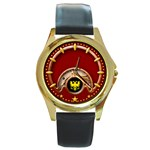Shiloh Watch - Round Gold Metal Watch