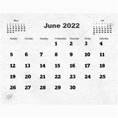 General Purpose Textured 2018 Calendar (large Numbers) By Deborah   Wall Calendar 11  X 8 5  (12 Months)   Kzefe08h2870   Www Artscow Com Jun 2018