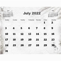 General Purpose Textured 2018 Calendar (large Numbers) By Deborah   Wall Calendar 11  X 8 5  (12 Months)   Kzefe08h2870   Www Artscow Com Jul 2018