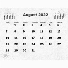 General Purpose Textured 2018 Calendar (large Numbers) By Deborah   Wall Calendar 11  X 8 5  (12 Months)   Kzefe08h2870   Www Artscow Com Aug 2018