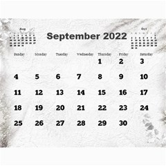 General Purpose Textured 2018 Calendar (large Numbers) By Deborah   Wall Calendar 11  X 8 5  (12 Months)   Kzefe08h2870   Www Artscow Com Sep 2018