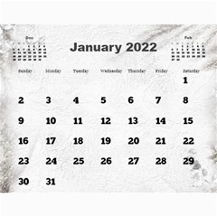 General Purpose Textured 2018 Calendar (large Numbers) By Deborah   Wall Calendar 11  X 8 5  (12 Months)   Kzefe08h2870   Www Artscow Com Jan 2018