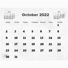 General Purpose Textured 2018 Calendar (large Numbers) By Deborah   Wall Calendar 11  X 8 5  (12 Months)   Kzefe08h2870   Www Artscow Com Oct 2018