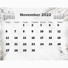 General Purpose Textured 2018 Calendar (large Numbers) By Deborah   Wall Calendar 11  X 8 5  (12 Months)   Kzefe08h2870   Www Artscow Com Nov 2018