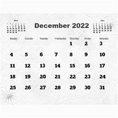 General Purpose Textured 2018 Calendar (large Numbers) By Deborah   Wall Calendar 11  X 8 5  (12 Months)   Kzefe08h2870   Www Artscow Com Dec 2018