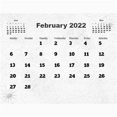 General Purpose Textured 2018 Calendar (large Numbers) By Deborah   Wall Calendar 11  X 8 5  (12 Months)   Kzefe08h2870   Www Artscow Com Feb 2018