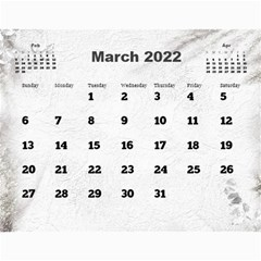 General Purpose Textured 2018 Calendar (large Numbers) By Deborah   Wall Calendar 11  X 8 5  (12 Months)   Kzefe08h2870   Www Artscow Com Mar 2018
