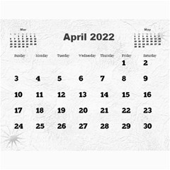 General Purpose Textured 2018 Calendar (large Numbers) By Deborah   Wall Calendar 11  X 8 5  (12 Months)   Kzefe08h2870   Www Artscow Com Apr 2018