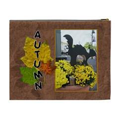 Autumn Joy Xl Costmetic Bag By Lil    Cosmetic Bag (xl)   Ly3ph4r7ygrt   Www Artscow Com Back