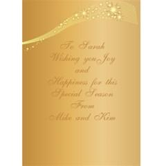 Merry Christmas 5x7 Card 2 By Deborah   Greeting Card 5  X 7    Qppx5y0zg9h8   Www Artscow Com Back Inside