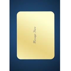 Midnight Blue Christmas Wishes 5x7 Card By Deborah   Greeting Card 5  X 7    Drzjjxvr967m   Www Artscow Com Back Inside