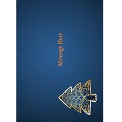 Midnight Blue Merry Christmas 5x7 Card By Deborah   Greeting Card 5  X 7    53s41b87fsvk   Www Artscow Com Back Inside