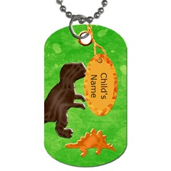 Dino Tag Template By Heather    Dog Tag (two Sides)   Sjlfwnbglwsw   Www Artscow Com Front