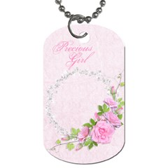 Precious Girl Diaper Bag Tag By Heather    Dog Tag (two Sides)   Hlo2pk179169   Www Artscow Com Back