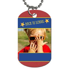 Back To School By Joely   Dog Tag (two Sides)   5i19sgo8c3u2   Www Artscow Com Front