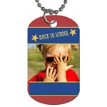 back to school - Dog Tag (Two Sides)