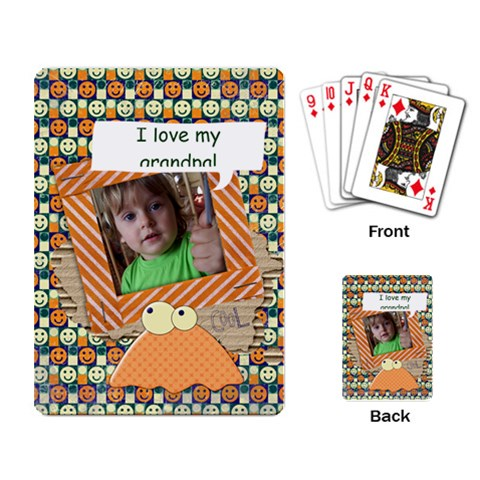 Monsters/smile  Playing Cards (single) By Mikki   Playing Cards Single Design   Ofd3cp1hjihe   Www Artscow Com Back