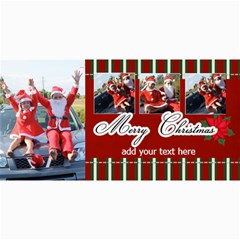 4x8 Photo Cards  Stripes Christmas By Jennyl   4  X 8  Photo Cards   K6pqmwwmy5uk   Www Artscow Com 8 x4 Photo Card - 3