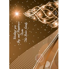 Gold Christmas Wishes 5x7 Card By Deborah   Greeting Card 5  X 7    B3bdnwwlsu8q   Www Artscow Com Front Cover