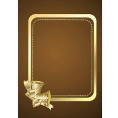 Gold Merry Christmas 5x7 Card By Deborah   Greeting Card 5  X 7    Bsm8ku6v808x   Www Artscow Com Front Inside