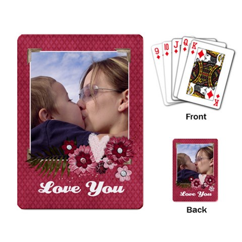 Love/pink/girl Playing Cards (single Design) By Mikki   Playing Cards Single Design   Jqegovqwvygy   Www Artscow Com Back