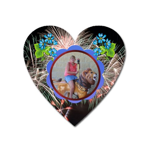 Akron Zoo Magnet By Tori Carson   Magnet (heart)   T0c6f8km7m5a   Www Artscow Com Front