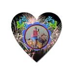 akron zoo magnet - Magnet (Heart)