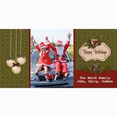 4x8 Photo Card: Happy Holidays By Jennyl   4  X 8  Photo Cards   Nwq2cbf0y8hn   Www Artscow Com 8 x4 Photo Card - 6
