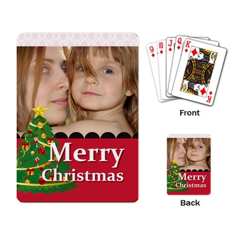 Merry Christmas By Wood Johnson   Playing Cards Single Design   88tt1rort5zo   Www Artscow Com Back